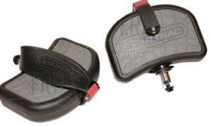 Star Trac Pro/UB63/RB64 BIKE Pedals Pair R & L with/Straps OEM recumbent BIKE