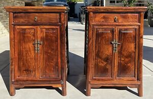 Chinese Pair Huanghuali Cabinets