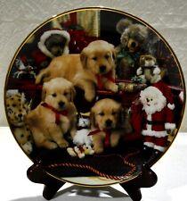 Golden Retriever Plate - Franklin Mint - Christmas Cheer