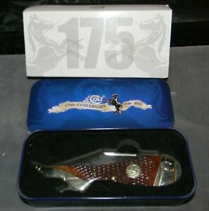 Colt 175th Anniversary Lady Leg Folding Knife CT369 in Collector Tin