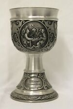 """New listing SKS Zinn 95% Poker Game Goblet Made In W. Germany Jager Stammtisch 5"""""""