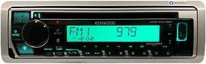 Kenwood Marine Alexa iPhone Bluetooth CD Player KMR-D378BT AM FM XM USB Aux 50w