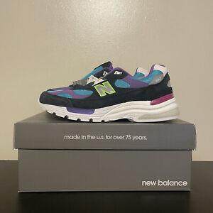 New Balance YCMC 992 Made in USA Rewind M992YC Black Purple Blue Shoes Size 9.5