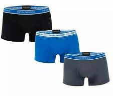 New Mens EA7 Emporio Armani 3 Pack Boxer Shorts Navy , Blue, Grey Size 2XL