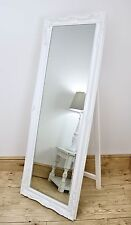 "Isabella White Shabby Chic Full Length Antique Cheval Mirror 60"" x 22"" X Large"