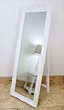 "White Full Length Shabby Chic Cheval Mirror - Isabella 60"" x 22"" (150cm x 55cm)"