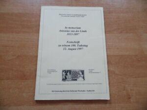In memoriam Antonius van der Linde 1833-1897 Festschrift zu seinem 100. Todestag