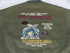 Charles Chevignon Bomber Jacket Togs Unlimited Vintage Army Green Sz: XL