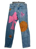 Wrangler Vintage premium Quality denim jeans graphic paint size 31 X 32