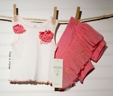 Baby GUESS ~ Infant Baby Girls ~ 2 Piece Tank & Tutu Short  ~ 3-6 Months  NWT