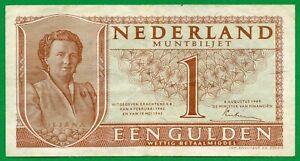 Netherlands 1 Gulden 1945  | Juliana , VF