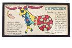 "MARGOT JOHNSON 1968 Mid-Century Mod ""CAPRICORN ZODIAC"" Framed Pop Art Print"