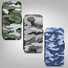 Ejército Camo Camuflaje Abatible Billetera Teléfono Estuche Cubierta para IPHONE SAMSUNG HUAWEI