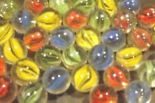 "500 x JOB LOT BULK WHOLESALE MARBLES SMALL 0.6"" 16mm MIXED RED YELLOW BLUE GREEN"