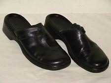 Clarks Womens Black Leather Mule Shoe - Size 7M