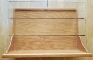 S Scale (also HO, O scale) Oak & Acrylic MODEL TRAIN DISPLAY CASE