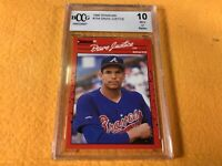 B3-95 BASEBALL CARD - DAVID JUSTICE BRAVES - 1990 DONRUSS - GRADE 10