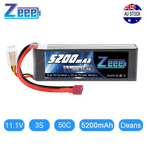 Zeee 5200mAh 3S 50C 11.1V Deans LiPo Battery for RC Car Helicopter Airplane Boat