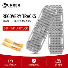 Bunker Indust Recovery Tracks With Jack Lift Base 1 Pair Grey Sand Traction Mat