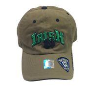 Notre Dame Top of the World TOW Adjustable Tan Baseball Cap Hat Fighting Irish