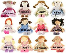 More details for choice of 12 bonikka rag first doll baby personalised embroidered cute named