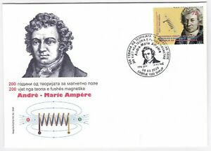 NORTH MACEDONIA 200th Anniversary of the theory of magnetic field Ampere FDC