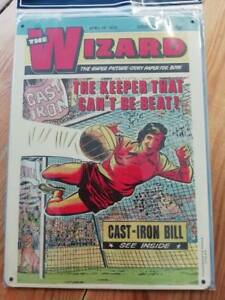 Nostalgic The Wizard Mag for Boys Metal Wall Hanging Plaque Sign 15x20cms