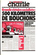 LA SEMAINE DE CHARLIE n°8 ¤ 1981 ¤ REISER / CABU DIMITRI / CHARLIE HEBDO 555 bis