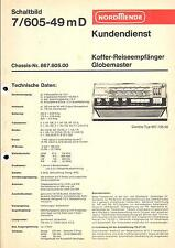 Nordmende Service Manual für Globemaster 7/605-49m     .