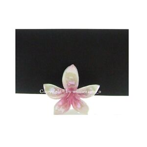 27 of Premium Quality FRANGIPANI PINK Place Card Holder + 27 Blank Place Card