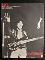 """THIN LIZZY LIVE & DANGEROUS 12"""" x 16"""" FULL PAGE MAGAZINE ADVERT UK 1978 POSTER"""