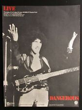 "THIN LIZZY LIVE & DANGEROUS 12"" x 16"" FULL PAGE MAGAZINE ADVERT UK JUNE 1978"