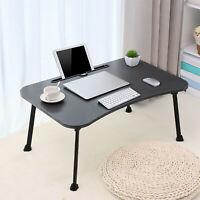 Portable Folding Laptop Table Lap Desk Bed Computer Tray Sofa Knees