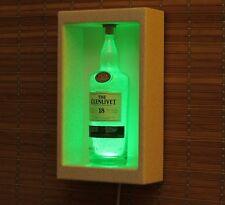 Glenlivet 18 Whiskey Sconce Wall Mount Remote Color Change Bottle Lamp Light