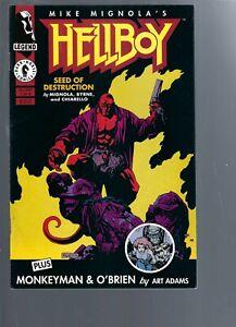HELLBOY  SEED OF DESTRUCTION 1  - 1ST SERIES 1994  - MIKE MIGNOLA -  DARK HORSE