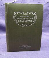 Siebert Ein kurzer Abriss der Geschichte der Philosophie 1905 Belletristik js