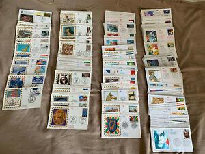 FDC - Collection années 90 - 1994 à 1997 - 257 enveloppes