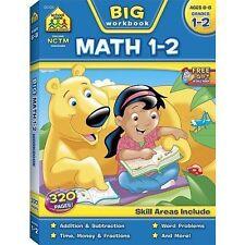 Big Math 1-2 Workbook - School Zone New Free Shipping