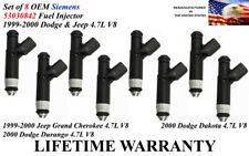 6X Fuel Injectors for 1999-2000 DODGE DAKOTA DURANGO JEEP 2.5 3.9 4.7 5.9 l4 V6