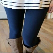 OS ONE SIZE 2-12 SOLID NAVY Leggings BUTTERY SOFT NWT