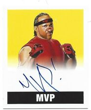 2017 Leaf Originals Wrestling Base Set Autograph Yellow Card #/99 - MVP