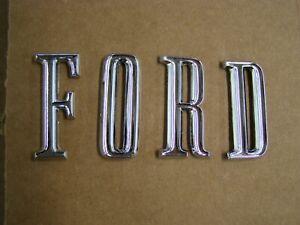NOS OEM Ford 1967 1968 Galaxie 500 Deck Lid Letters Emblems Ornaments XL LTD Set