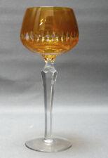 Weinglas, Kristall, Römer,Mitte 20. Jahrhundert, orange überfangen,19,5 cm