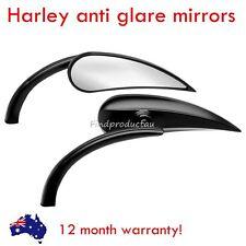 Motorcycle teardrop rad II Rearview Mirror Harley Street Sportster Cruiser Black