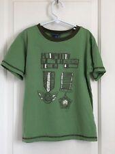Naartjie boys 7 multi color short sleeve medal print shirt CUTE!!