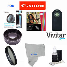 58MM 2x Telephoto Zoom Lens/UV/CPL/REMOTE for Canon Rebel EOS T3 T4 T5 T5I 30D
