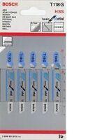 Bosch T118G Jigsaw Blade - Basic for Metal (5 Pack) 2608631012