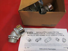 "Thomas and Betts 1"" Liquidtite 5244 Flexible Metal Conduit Connector 45 Degree A"