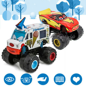 1:55 Disney Pixar Cars Light ning McQueen Monster Truck Die-Cast Vehicles Loose