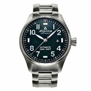 NEW Alpina Startimer Pilot Swiss Automatic Bracelet Watch AL-525NN4S6B